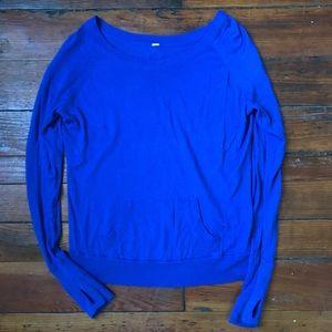 Lululemon indigo lighweight sweater S